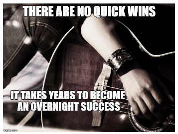 There are no quick wins